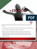 Femicide powerpoint presentation