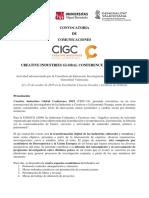 Call for Papers CIGC-19 Español
