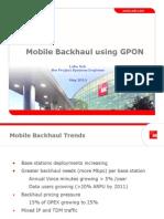 GPON Mobile Backhaul