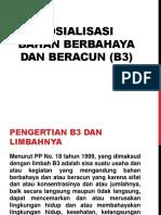 Bahan Beracun Dan Berbahaya (b3) Untuk k3