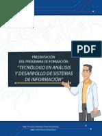 presentacion programa tecnologo en analisis y desarrollo de sistemas de informacion