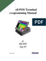 DX915 D7 Programming Manual