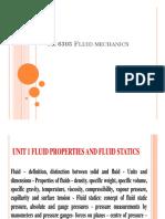 Unit 1a Fluid Properties