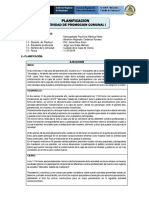 MODELO PLANIFICACIÓN ACTIVIDAD DE PROMOCIÓN COMUNAL