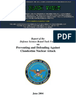 Report of the Defense Science Board Task Force on Preventing and Defending Against Clandestine Nuclear Attack