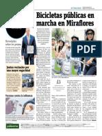 Bicicletas Públicas en Marcha en Miraflores