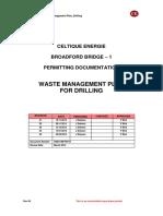 waste management for drilling
