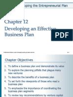 Chp 12 Developing an Effective Business Plan