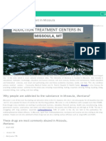 Addiction Treatment Centers in Missoula