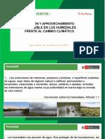 Gestión y Aprovechamiento Sostenible en Los Humedales Frente Al Cambio Climático