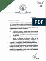 Correspondence Between Ramaphosa and Mkhwebane