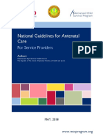 Ref Doc National Guidelines for Antenatal Care for Service Providers May2018
