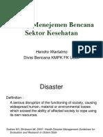 manajemen bencana sektor kesehatan