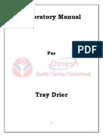 Tray Drier Lab Manual