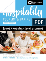 2019 Bendigo TAFE Hospitality, Travel & Tourism Course Guide