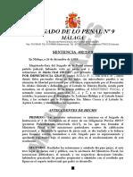 SENTENCIA 402/2018 JUZGADO DE LO PENAL No 9 MÁLAGA