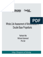 Nathalie Mai, Michael Isherwood, Phil Gill. - Whole Life Assessment of Nitrocellulose in Double Base Propellants