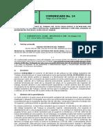 No. 14 Comunicado 15 y 16 de Mayo de 2019 Codigo Sustantivo Del Tarbajo