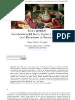 Marina Gutiérrez De Angelis. Risa y erotismo. La conciencia del deseo, el goce y la muerte en Boccaccio. Universidad de Buenos Aires / CONICET