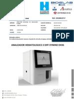 COTIZACION N°451 - ANALIZADOR HEMATOLOGICO 3 DIFF DYMIND DH36 - DIRECCION REGIONAL DE EDUCACION TUMBES