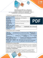 Guía de actividades y rúbrica de evaluación - Fase 4 - Factibilidad y alternativas metodológicas.pdf