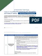 IATF Rules 5th Edition Sanctioned Interpretations November 2018