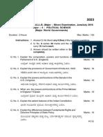 Major 4 PS Question Paper 3rd Sem
