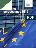 Élections européennes 2019. Le poids des électorats comparé au poids électoral des groupes parlementaires