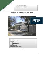 Informe Calculo Estructural JUAN XXIII