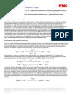 Hydrogen Peroxide & Caro's Acid for Cyanide Destruction