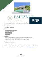 Job Maldives Advertisement the Emerald Maldives Resort.asd