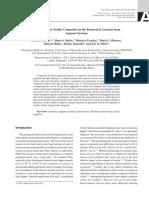 Compuestos de Nanomagnetita- Zeolita en La Eliminación de Arseniato de Sistemas Acuosos