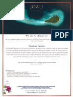 02. Joali_Recruitment Maldives July 2019