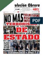 Revolución Obrera No. 481 - julio 2019