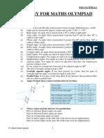 Geometry - Olympiad Material BY DR SHYAM SUNDAR AGRAWAL