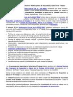 aspectos legales y normativos del Programa de Seguridad y Salud Laboral