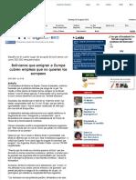 Bolivianos Que Emigran a Europa Cubren Empleos Que No Quieren Los Europeos