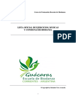 Biodanza Lista Oficial de Ejercicios Musicas y Consignas