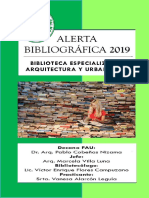 Alerta Bibliográfica 2019- Biblioteca FAU