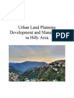 Land Management of hilly areas