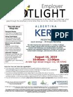Employer Spotlights August 2019