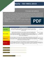 Check List Auditoria ISO 9001-2015