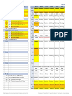 Homework and daily activities schedule