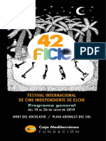 42 Festival Internacional de Cine Independiente de Elche. Programa General. Fundación Caja Mediterráneo