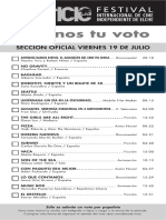 42 Festival Internacional de Cine Independiente de Elche. Programa Diario de Proyecciones