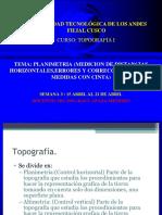 TOPOGRAFIA I -SESION 3 - Planimetría (medición de distancias horizontales, errores y correcciones en las medidas con cinta).-1.pdf