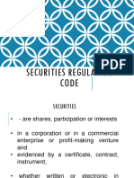 Presentation Securities Regulation Code (1)