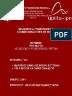 Proyecto Piston UPIITA Sensores Automotrices y Acondicionadores de Señal