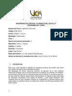 Legislación Comercial. Programa - 2-2019