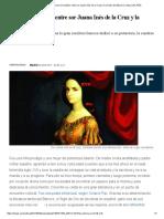 Un Amar Ardiente_ El Amor Sin Tabúes Entre Sor Juana Inés de La Cruz y La Virreina de México _ Cultura _ EL PAÍS